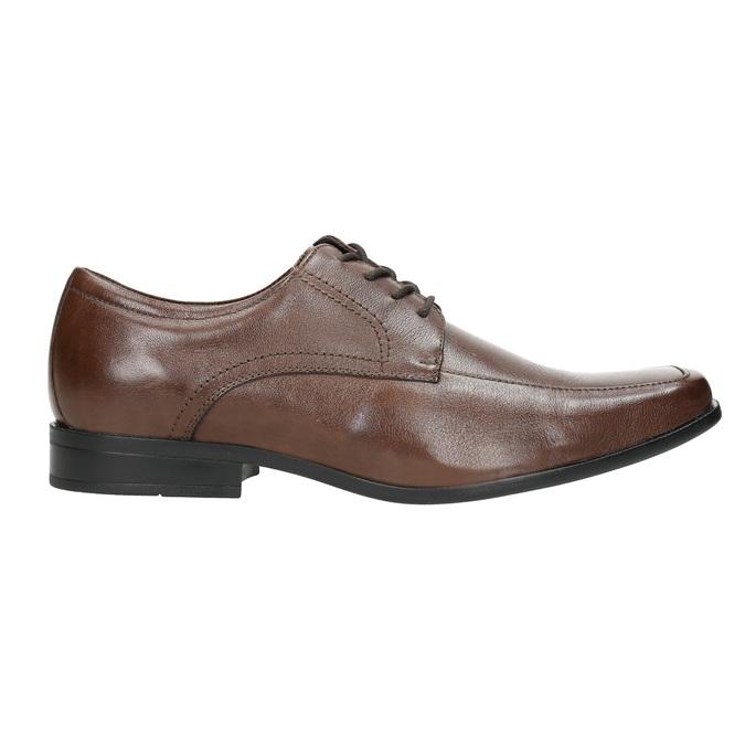 Hnedé kožené poltopánky bata, hnedá, 824-4600 - 15