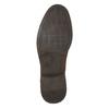 Kožené pánske poltopánky s prešitím bata, hnedá, 826-4610 - 19
