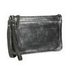 Kožená dámska listová kabelka so štruktúrou bata, strieborná, 964-1141 - 13
