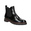 Kožená dámska Chelsea obuv bata, čierna, 596-6657 - 13