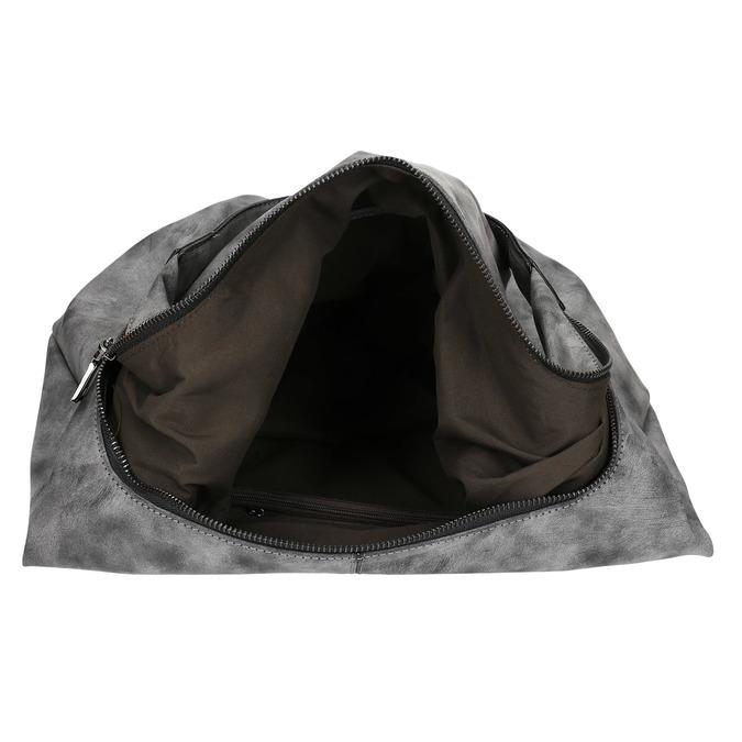 Hobo kabelka s retiazkou bata, šedá, 961-2765 - 15