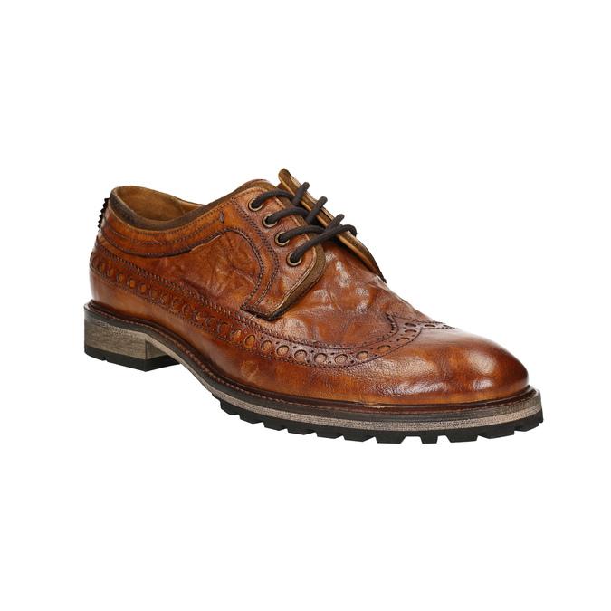 Pánske kožené poltopánky bata, hnedá, 826-3916 - 13