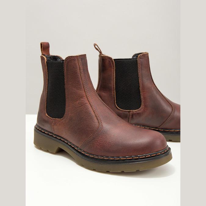 Kožená dámska Chelsea obuv bata, hnedá, 596-3680 - 14