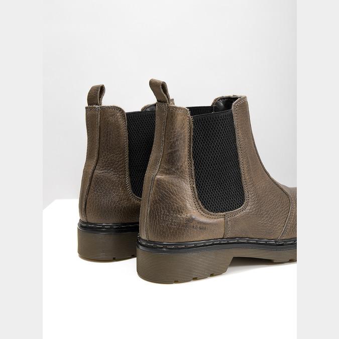 Dámska kožená Chelsea obuv bata, hnedá, 596-7680 - 14