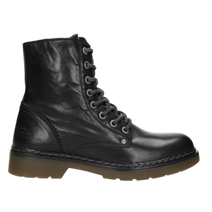 Kožená dámska členková obuv bata, čierna, 594-6681 - 26