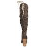 Dámske čižmy s riasením bata, hnedá, 799-4614 - 17