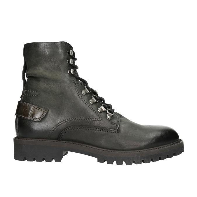 Členková kožená obuv bata, šedá, 896-2663 - 15
