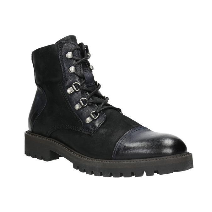 Pánska členková obuv bata, čierna, 896-6664 - 13