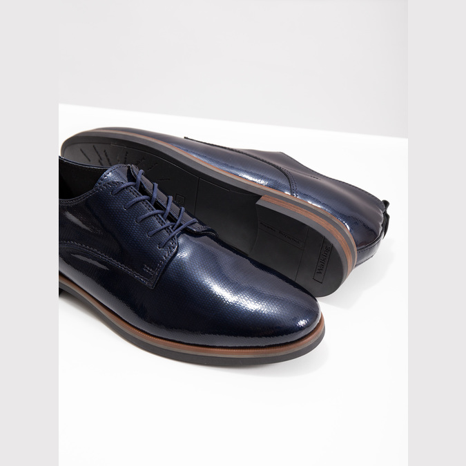 Kožené dámske poltopánky bata, modrá, 528-9600 - 18