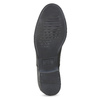 Dámske kožené poltopánky s prešívaním bata, čierna, 524-6661 - 18