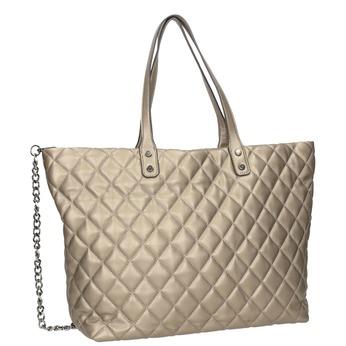 Prešívaná dámska kabelka bata, hnedá, 961-4139 - 13