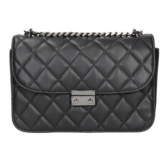 Čierna prešívaná Crossbody kabelka bata, čierna, 961-6141 - 26