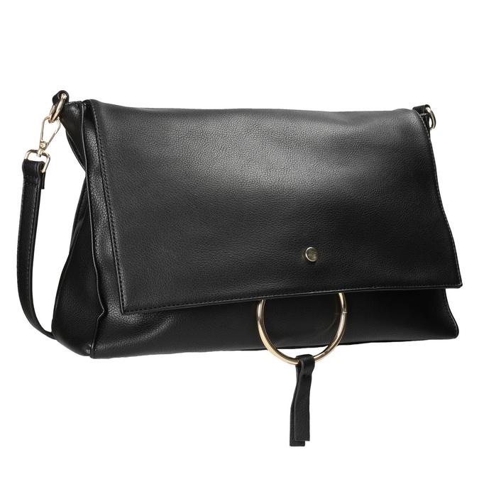 Dámska listová kabelka s retiazkou bata, čierna, 961-6164 - 13