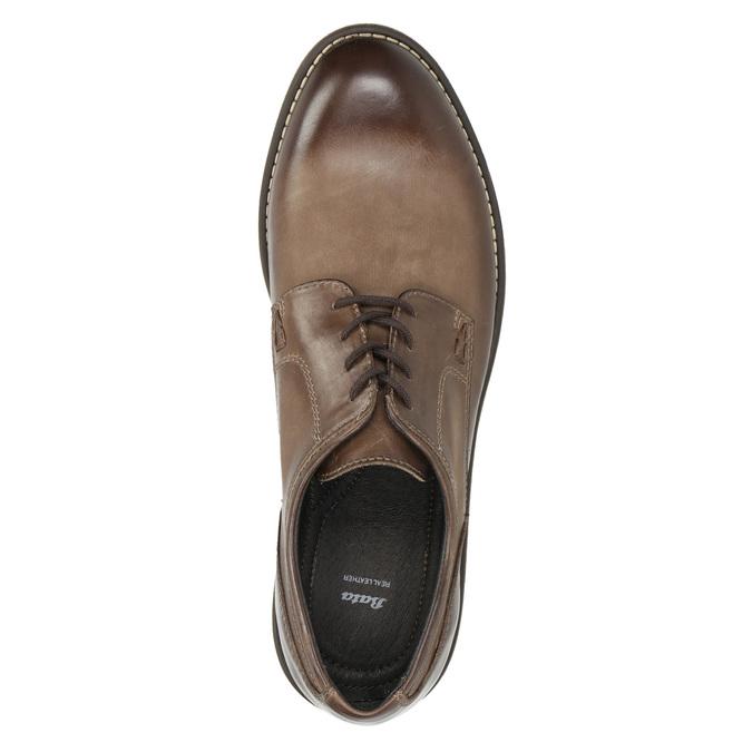 Hnedé kožené poltopánky bata, hnedá, 826-4620 - 26