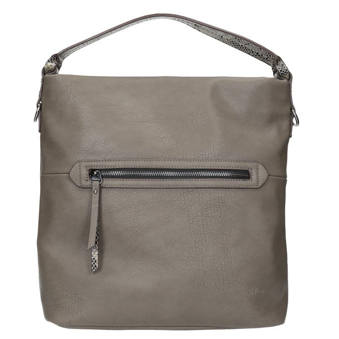 Dámska Hobo kabelka s popruhom gabor-bags, hnedá, 961-8029 - 26