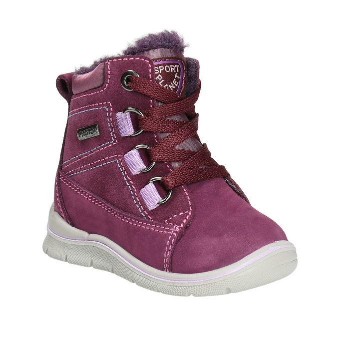 Detská kožená zimná obuv bubblegummers, fialová, 196-5600 - 13