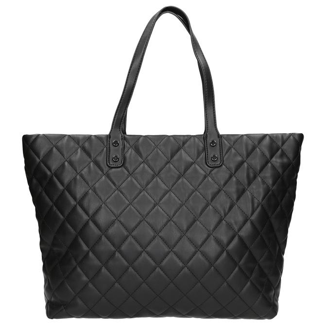 Prešívaná kabelka s retiazkou bata, čierna, 961-6139 - 26