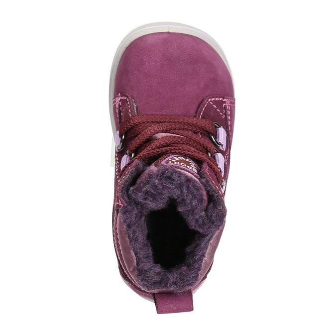 Detská kožená zimná obuv bubblegummers, fialová, 196-5600 - 26