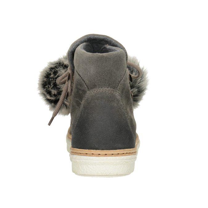 Dámska zimná obuv so šnurovaním weinbrenner, šedá, 596-2674 - 16