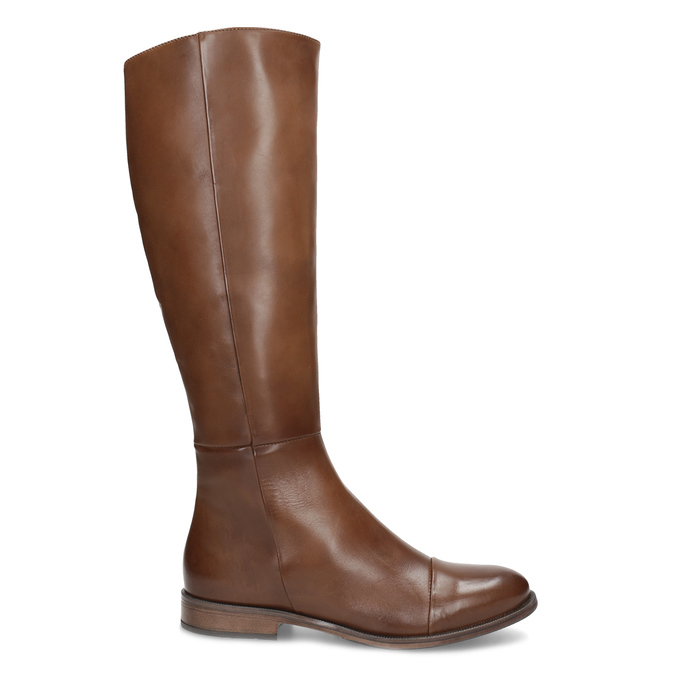 Hnedé kožené čižmy bata, hnedá, 594-4637 - 19