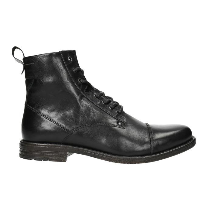 Pánska kožená členková obuv bata, čierna, 896-6690 - 26