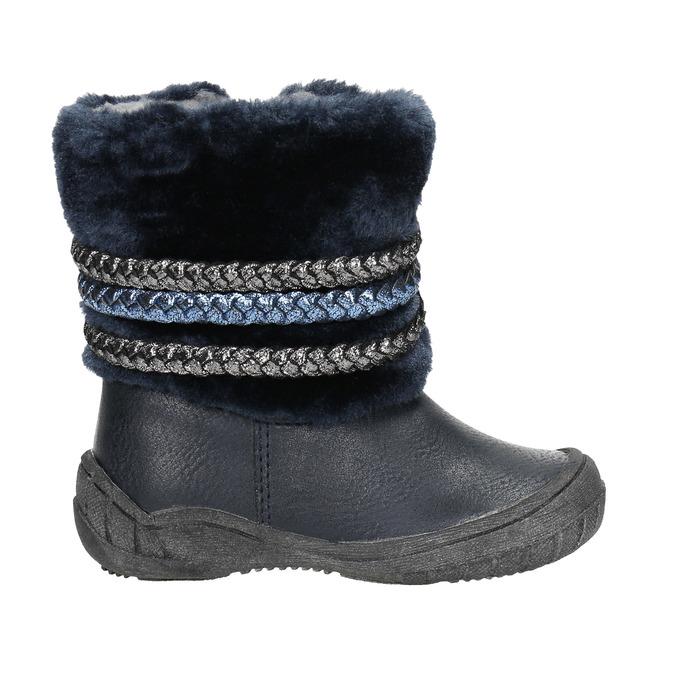 Detská zimná obuv so zateplením bubblegummers, modrá, 191-9620 - 15