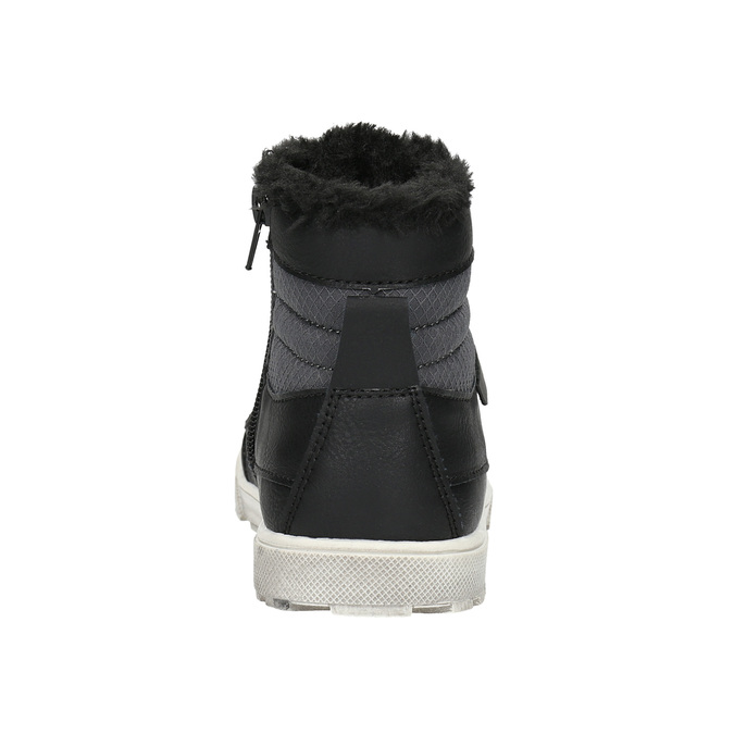 Zimná detská obuv mini-b, čierna, 491-6652 - 17