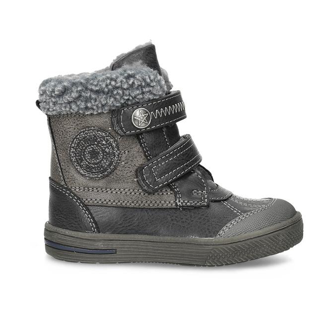 Detská zimná obuv so zateplením bubblegummers, šedá, 191-4619 - 19