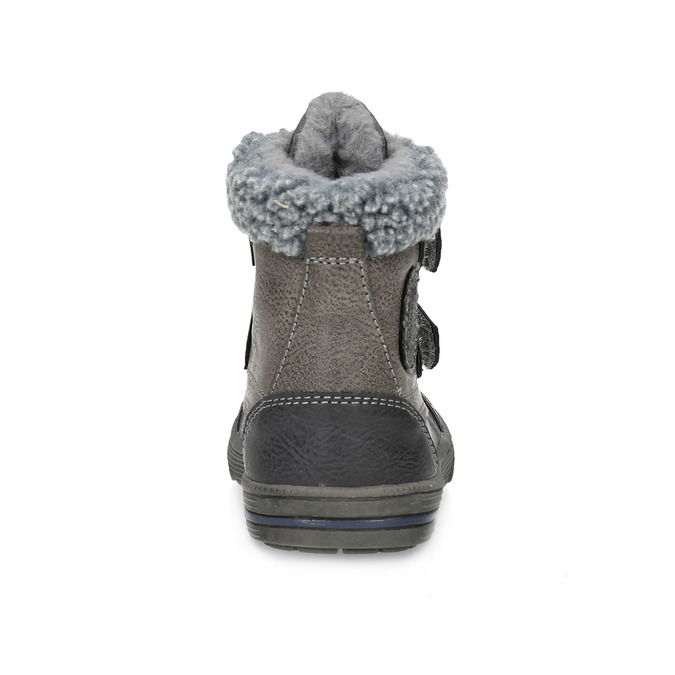 Detská zimná obuv so zateplením bubblegummers, šedá, 191-4619 - 15