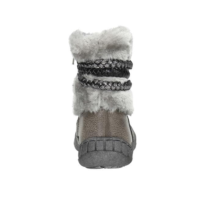 Detská zimná obuv s kožúškom bubblegummers, šedá, 191-2620 - 17