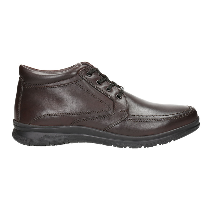 Kožená pánska zimná obuv comfit, hnedá, 894-4686 - 15
