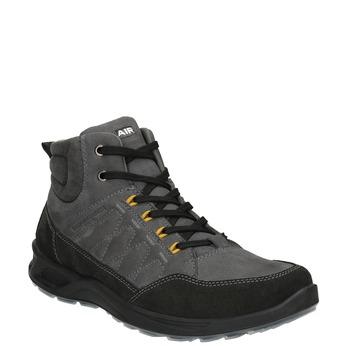 Pánska kožená Outdoor obuv weinbrenner, šedá, 846-2647 - 13
