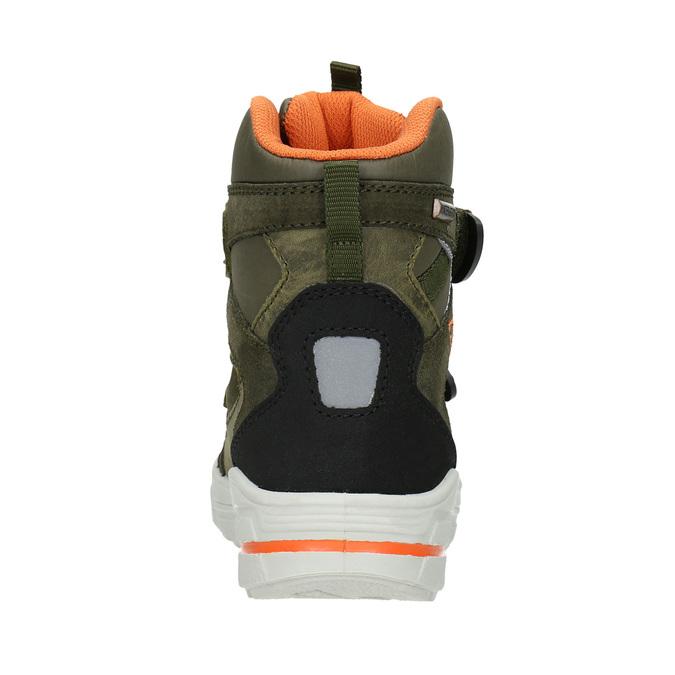 Detská zimná obuv z kože weinbrenner-junior, zelená, 493-7612 - 16