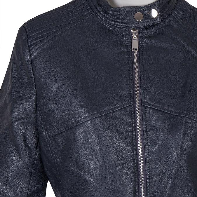 Dámska bunda s prešitím bata, modrá, 971-9203 - 16