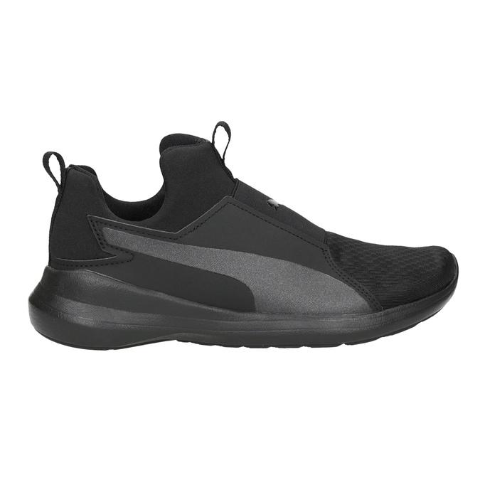 Čierne dámske tenisky bez šnurovania puma, čierna, 509-6200 - 26
