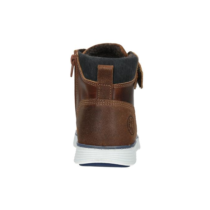 Detská kožená členková obuv bullboxer, hnedá, 494-3024 - 16