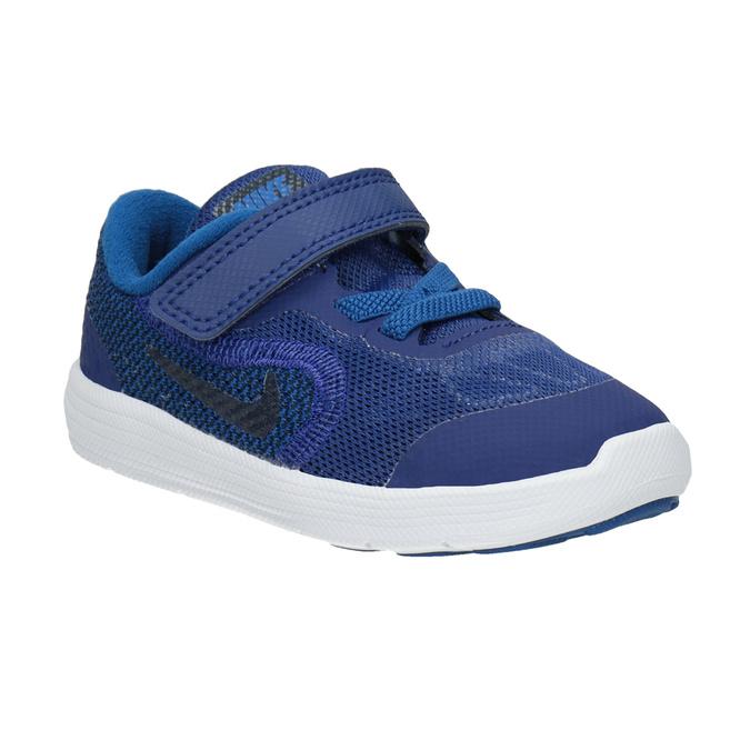 Modré detské tenisky nike, modrá, 109-9132 - 13