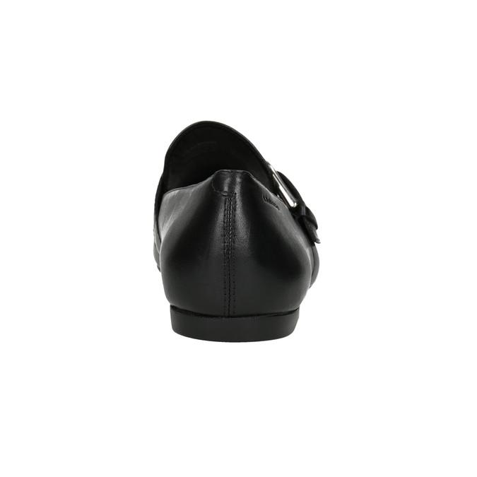 Kožené dámske mokasíny s prackou vagabond, čierna, 514-6017 - 16