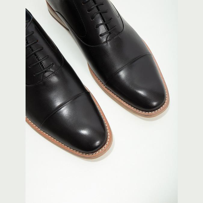 Celokožené Oxford poltopánky bata, čierna, 824-6414 - 14