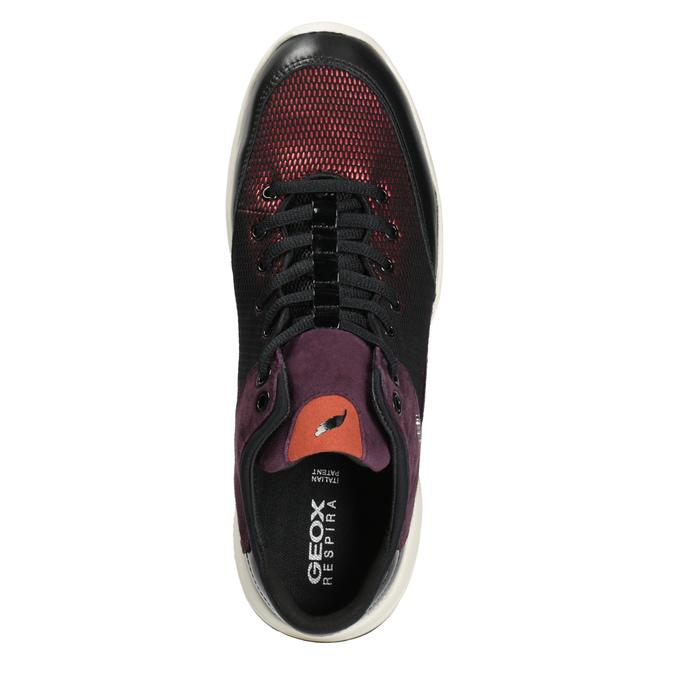 Dámske priedušné tenisky geox, červená, 629-5044 - 15