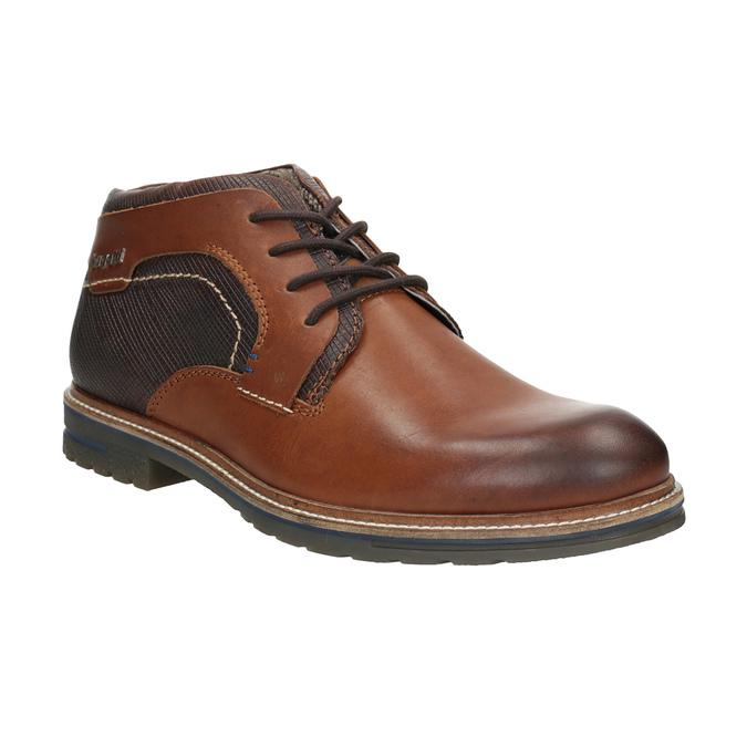 Kožená členková obuv bugatti, čierna, 824-6010 - 13