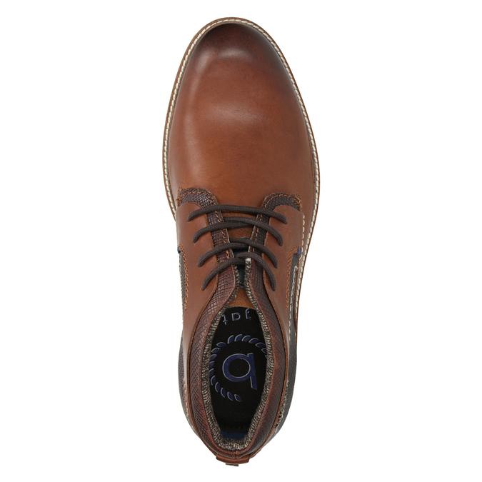 Kožená členková obuv bugatti, čierna, 824-6010 - 15