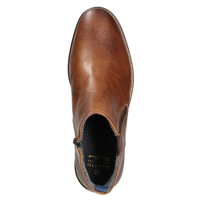 Pánska kožená členková obuv bugatti, hnedá, 816-4044 - 15