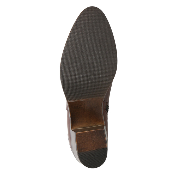 Členkové čižmy na stabilnom  podpätku bata, hnedá, 696-4654 - 17