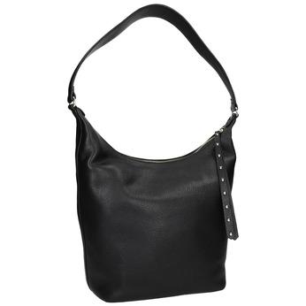Čierna kožená kabelka bata, čierna, 964-6274 - 13