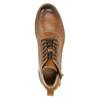 Hnedá kožená členková obuv bata, hnedá, 896-3684 - 26