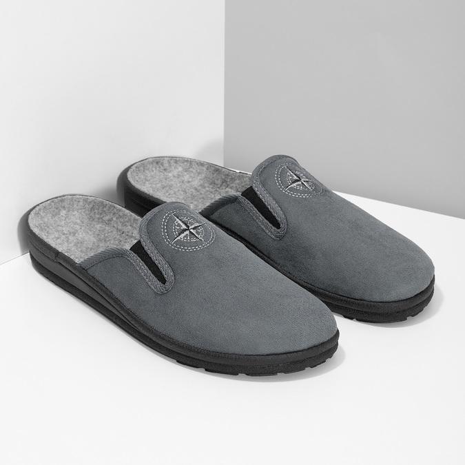 Pánska domáca obuv bata, šedá, 879-2610 - 26