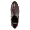 Kožené členkové topánky na podpätku bata, červená, 796-5647 - 26