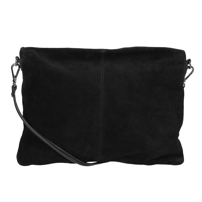 Čierna kožená listová kabelka bata, čierna, 964-6265 - 16