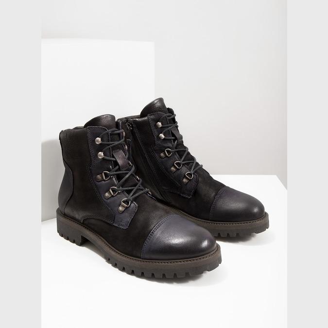Pánska členková obuv bata, čierna, 896-6664 - 14